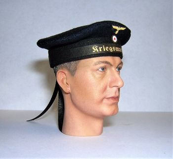 Banjoman 1:6 Scale Custom Made WW2 German Kriegsmarine Sailor's Cap - Blue