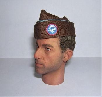 Banjoman Custom Made WW2 1/6th Scale U.S. Airborne Division Paraglide Brown Garrison Cap