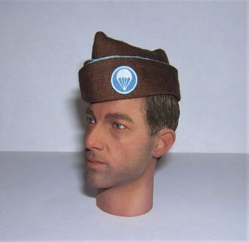 Banjoman Custom Made WW2 1/6th Scale U.S. Airborne Division Paratrooper Brown Garrison Cap.