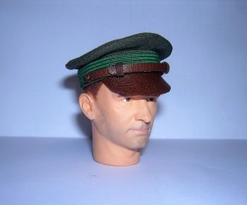 Banjoman custom made 1/6th Scale WW2 United States Air Force Officer's Crusher Cap.