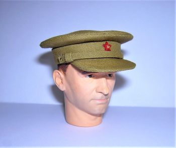Banjoman custom made 1/6th Scale WW2 Soviet Field Uniform Khaki Officer's Cap.