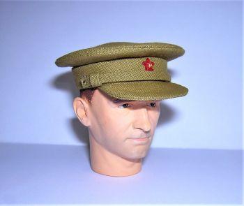 Banjoman custom made 1/6th Scale WW2 Soviet Field Uniform Khaki Officer's Cap.