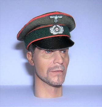 Banjoman custom made 1/6th Scale WW2 German Green Feldgendarmerie Crusher Cap.