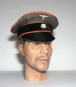 Banjoman custom made 1/6th Scale WW2 German Green SS Feldgendarmerie Crusher Cap.