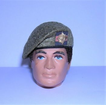 Banjoman 1:6 Scale Custom Made Beret - Khaki - Irish Guards
