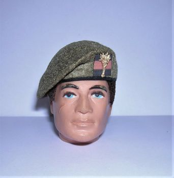 Banjoman 1:6 Scale Custom Made Beret - Khaki - Welsh Guards