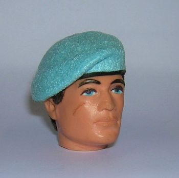 Banjoman 1:6 Scale Custom Made Beret For Vintage Action Man - Light Blue