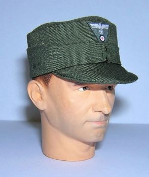 Banjoman 1:6 Scale Custom WW2 German M43 Field Cap - Green