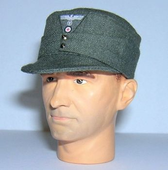 Banjoman 1:6 Scale Custom WW2 German M43 Field Cap - Grey