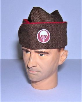 Banjoman 1/6th Scale Custom WW2 U.S. Airborne Artillery Brown Garrison Cap