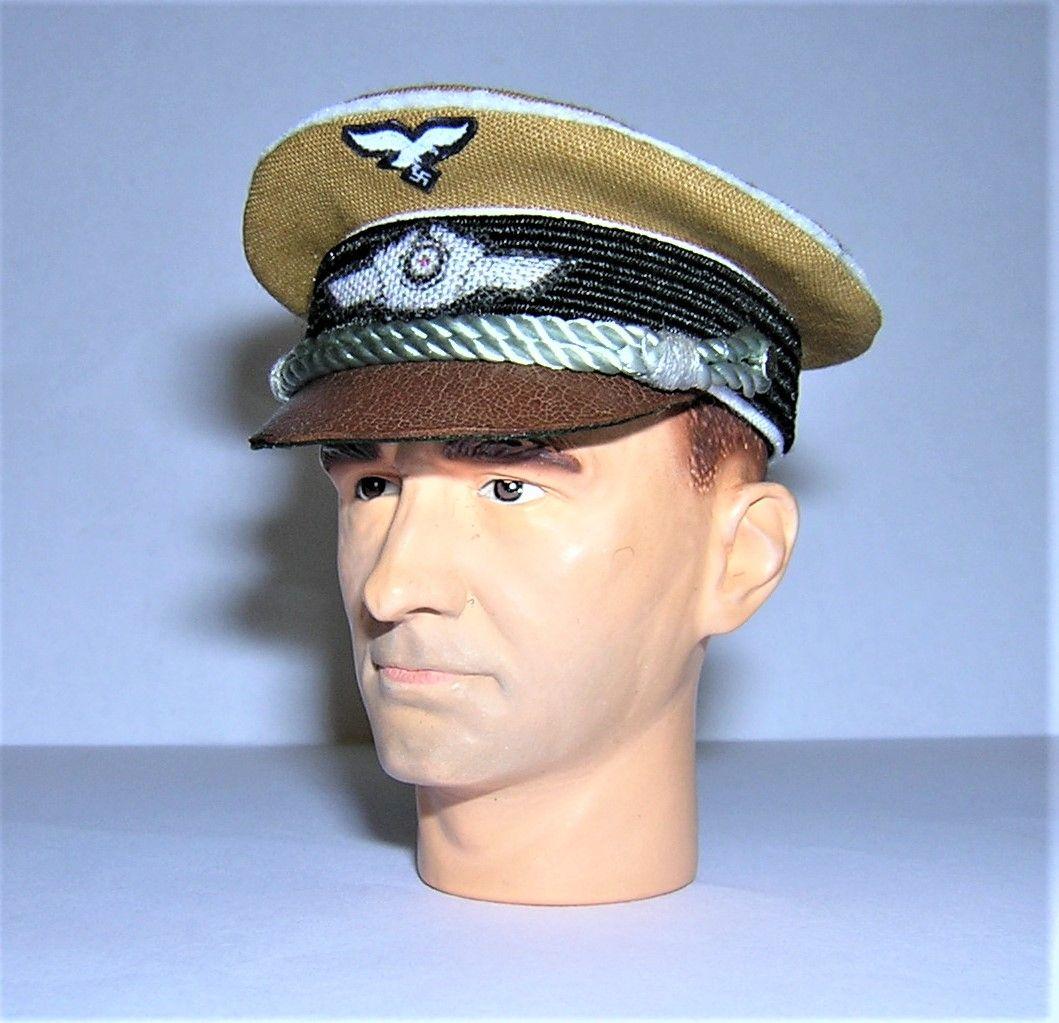 Banjoman 1:6 Scale Custom WW2 German Luftwaffe Officer's Tropical Visor Cap