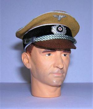 Banjoman 1:6 Scale Custom WW2 German DAK Officer's Tropical Visor Cap