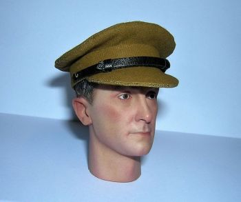 Banjoman custom made 1/6th Scale WW2 British Army Officer's Light Khaki Service Cap.