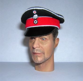 Banjoman 1:6 Scale Custom Made WW1 German Hussar Officer's Visor Cap