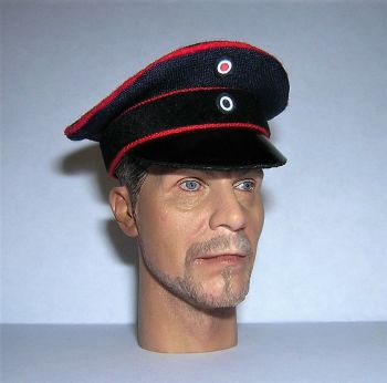 Banjoman 1:6 Scale Custom Made WW1 German Officer's Navy / Black Visor Cap