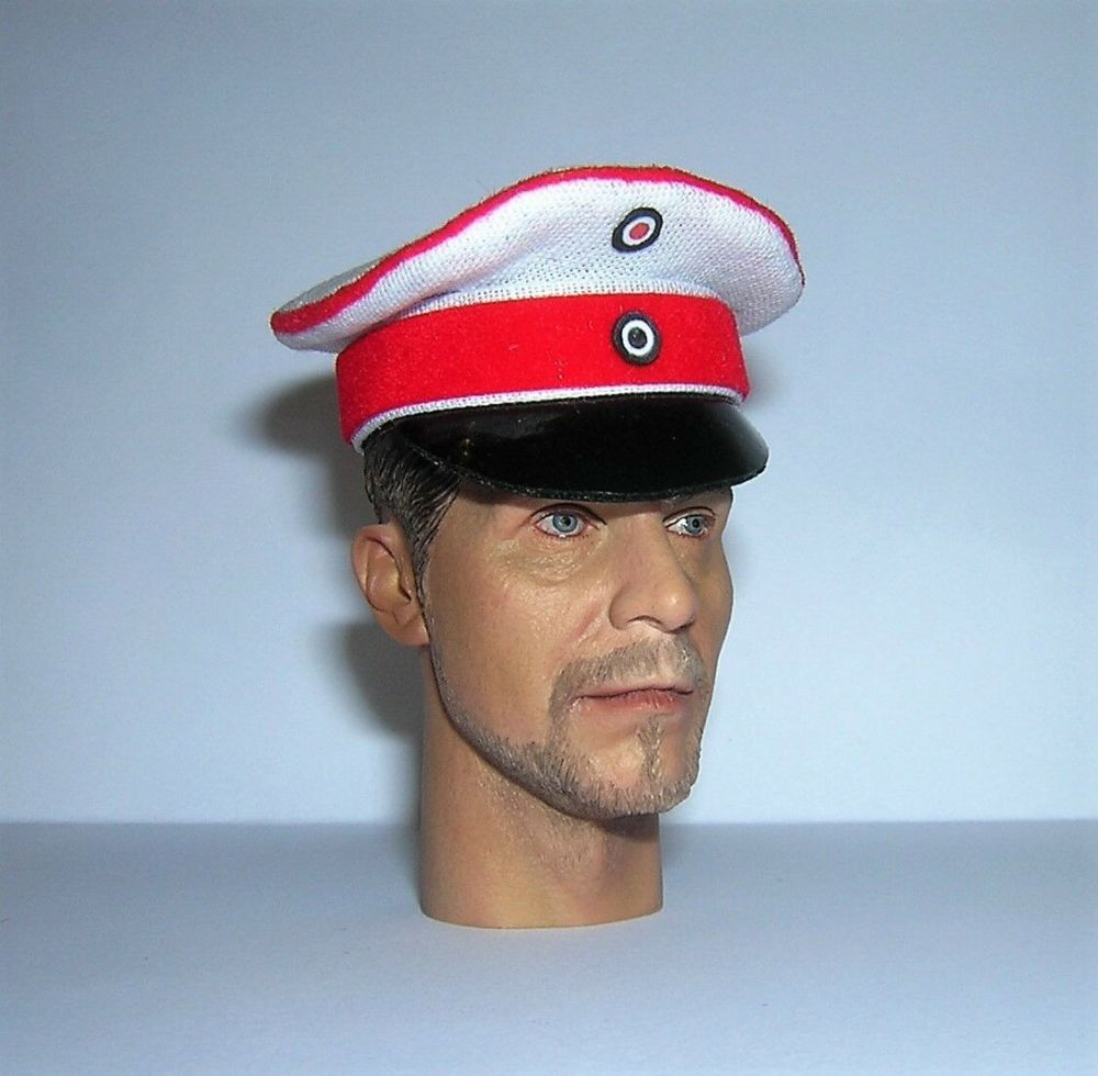 Banjoman 1:6 Scale Custom Made WW1 German Cuirassiers Officer Visor Cap #1