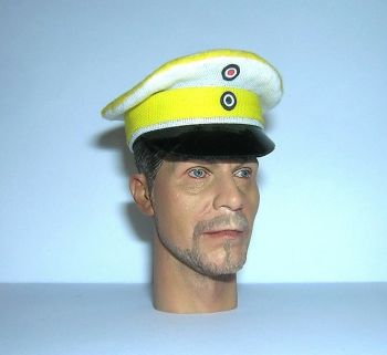 Banjoman 1:6 Scale Custom Made WW1 German Cuirassiers Officer Visor Cap #2