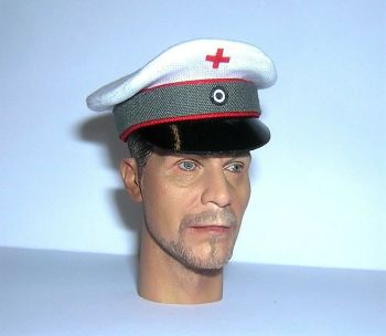 Banjoman 1:6 Scale Custom Made WW1 German Medical Orderly Visor Cap
