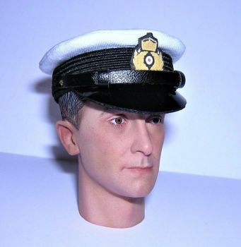 Banjoman 1:6 Scale Custom Made WW1 German Imperial Navy Officer Visor Cap White