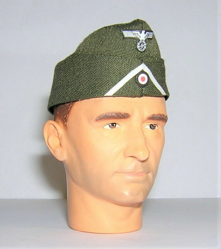 Banjoman 1:6 Scale Custom WW2 German Infantry Side Cap - Green