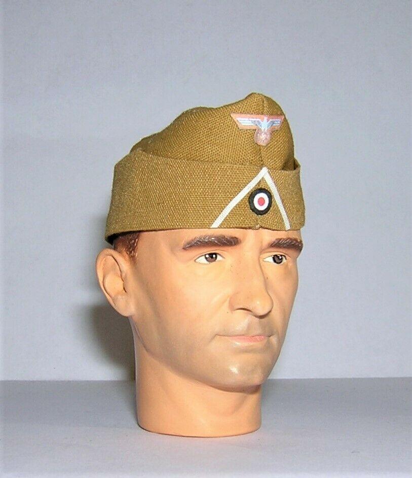 Banjoman 1:6 Scale Custom WW2 German Infantry Afrika Korps Side Cap - Tan