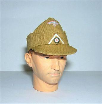 Banjoman 1:6 Scale Custom WW2 German Infantry Afrika Korps Forage Cap - Tan