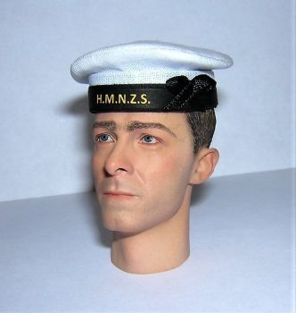 Banjoman 1:6 Scale Custom WW2 New Zealand Royal Navy Seaman's Cap - White