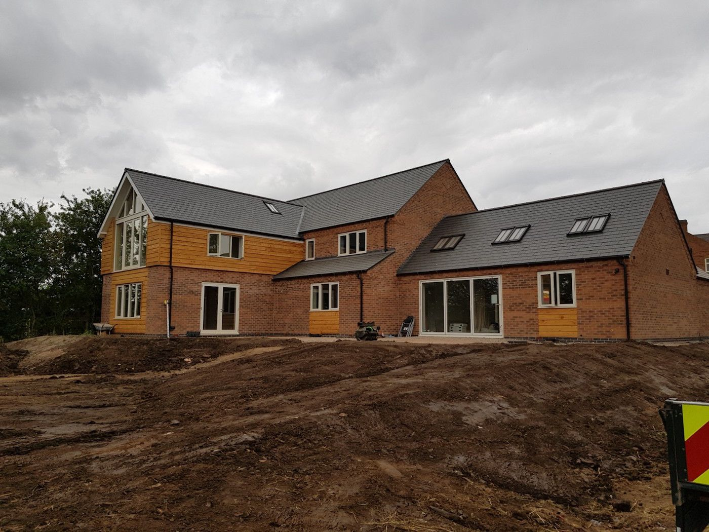 Rear of the new build