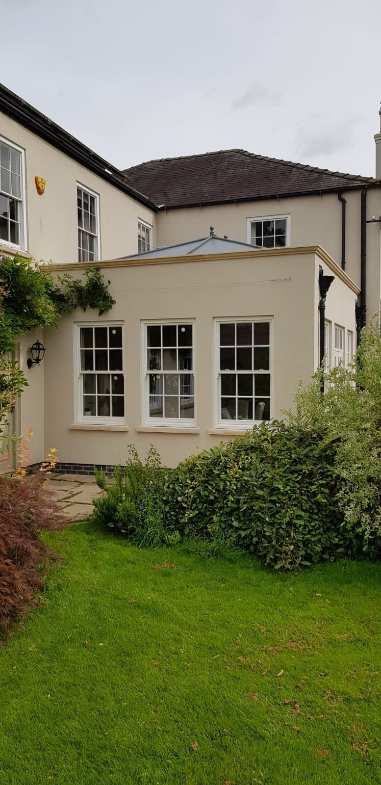 Finished manor house extension