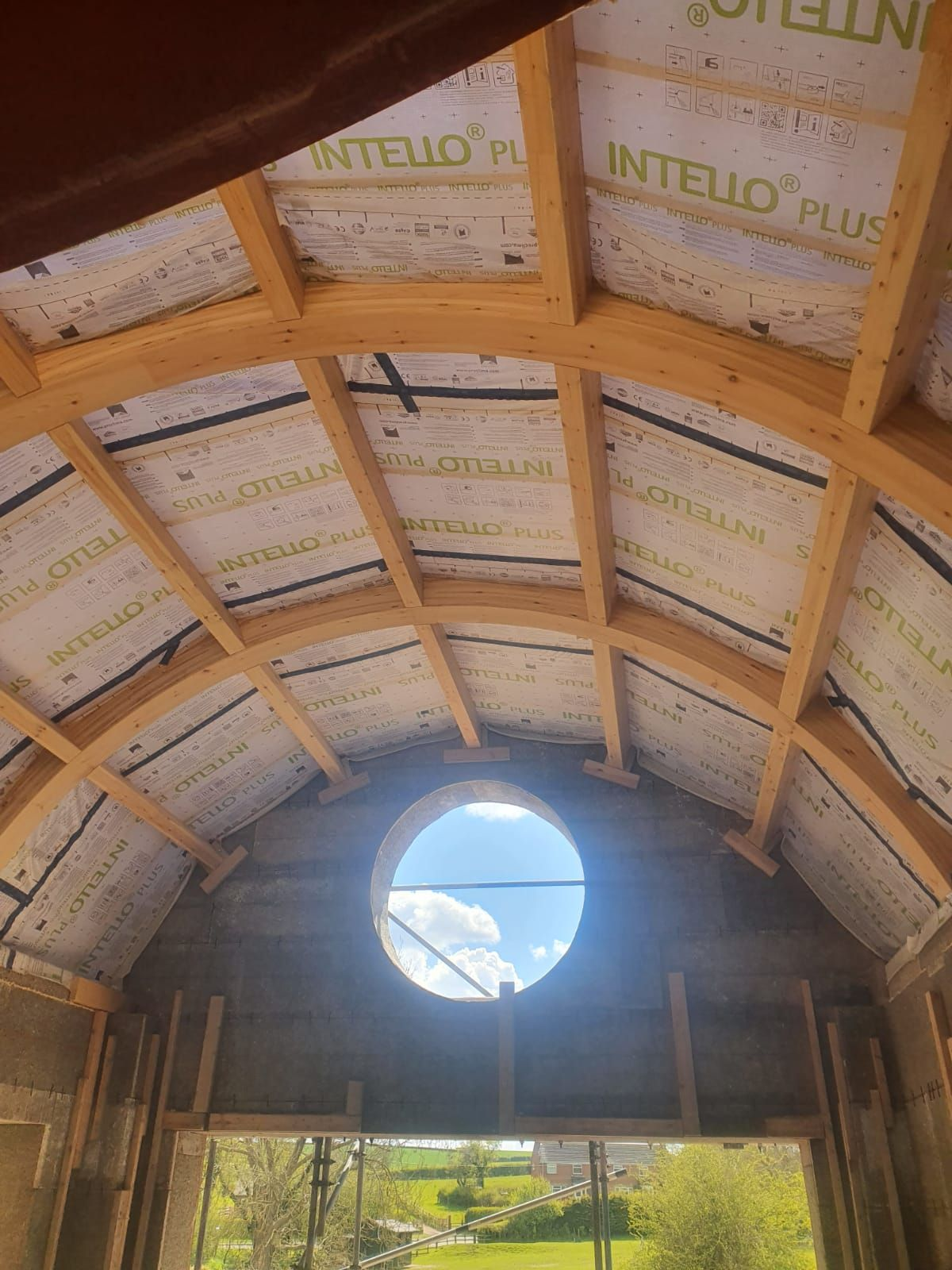 Insulation on domed roof