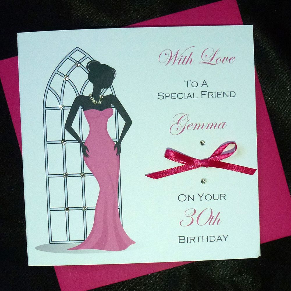Handmade Ladies Birthday Card