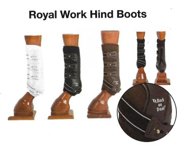 Back on Track® Equine Work Boots, Royal (Hind Leg)