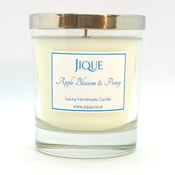 Apple Blossom & Peony Scented Candle