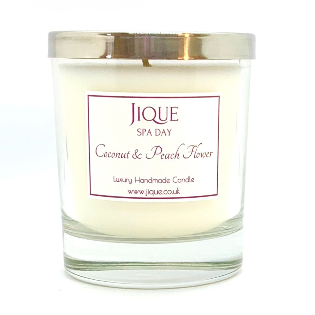 Coconut & Peach Flower Scented Candle
