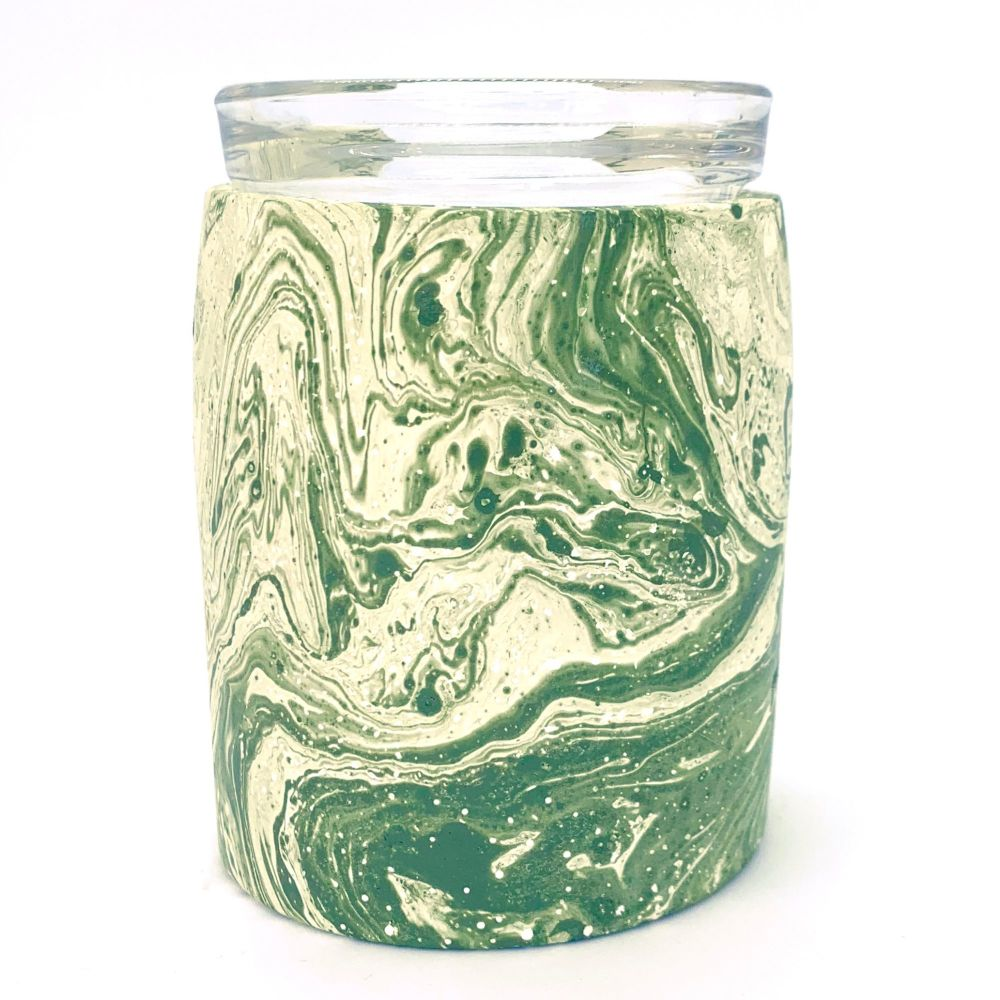 Wax Melter - Green Marble