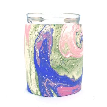 Wax Melter - Pink, Blue & Green Marble
