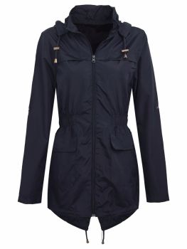 Brave Soul Navy Raincoat