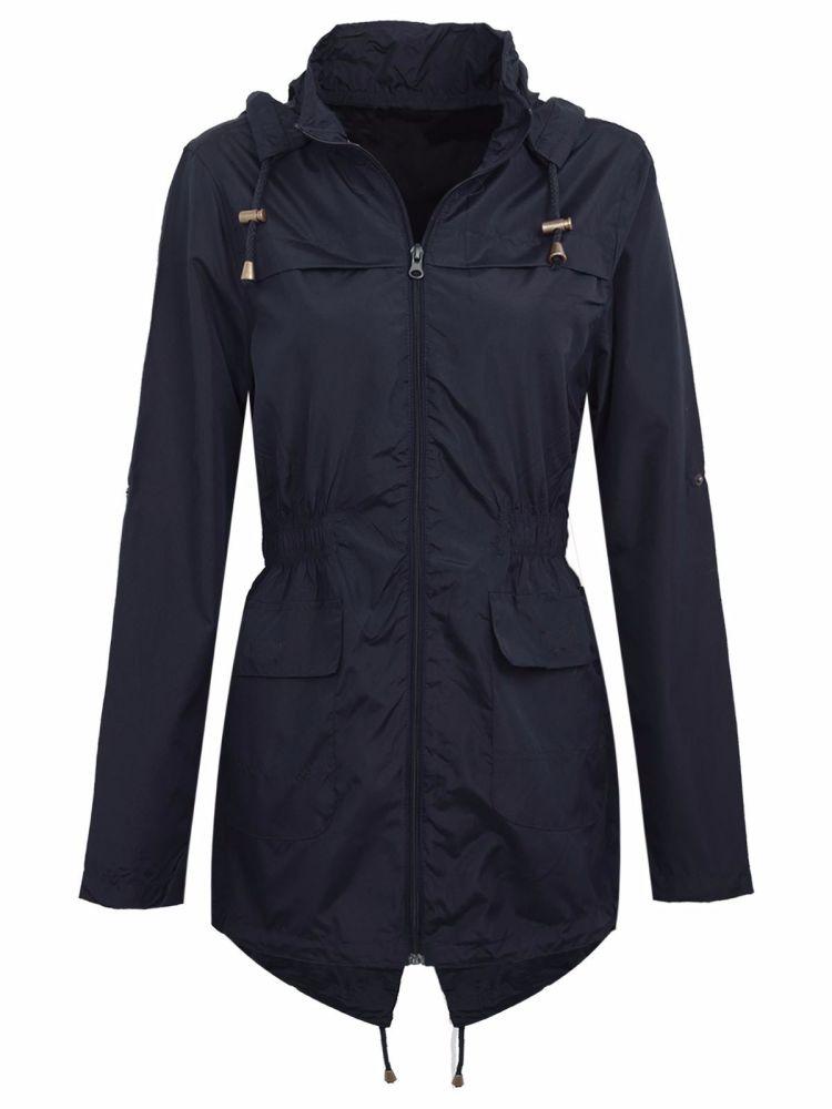 Brave Soul Navy Raincoat