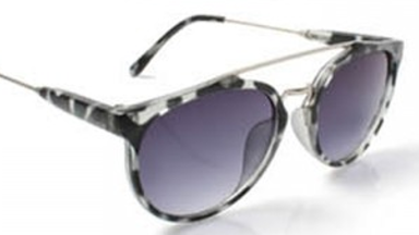 Leopard Print Aviator Sunglasses - Grey