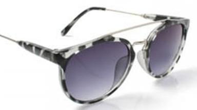 Leopard Print Aviator Sunglasses - Grey