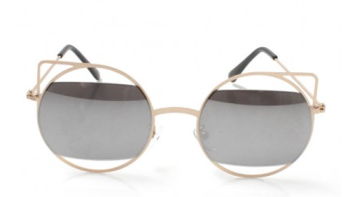 Cutout Cateye Mirror Sunglasses