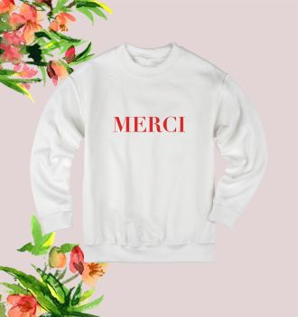 Merci Red Sweatshirt