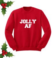 Jolly AF Red Sweatshirt