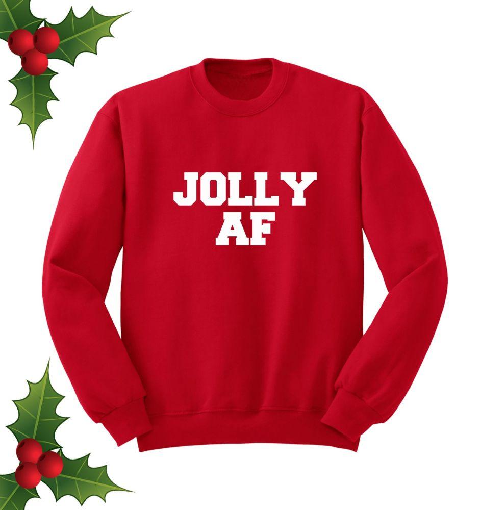 Jolly AF Red Sweatshirt