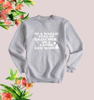 Grinch Cindy Lou Who Sweatshirt