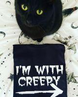 I'm With Creepy Halloween Tee