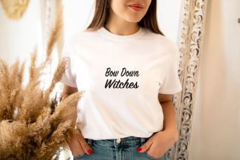 Bow Down Witches tee