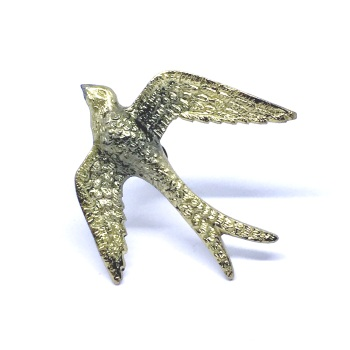 Gold Bird in Flight Knob