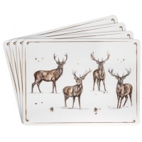 Winter Stags Set of 4 Placemats