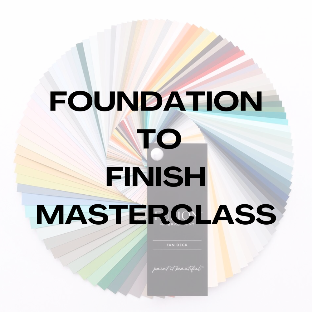 Foundation To Finish - Online Masterclass - Starting 7th July 2020